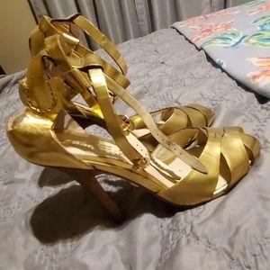 Gold LAMB high heels
